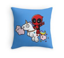 Deadpool & Unicorn Throw Pillow