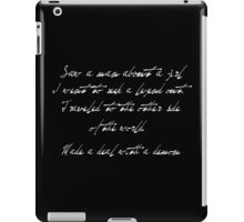 Saw a man about a girl. iPad Case/Skin