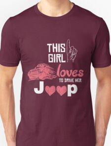 This girl loves to drive her jeep Unisex T-Shirt