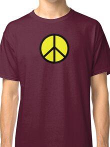 Hippie yellow black Classic T-Shirt