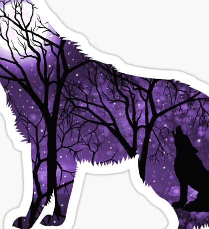 Howling Wild Wolf - Purple Sticker