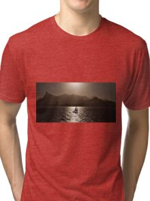 Sailing boat backlit in Rio de Janeiro Tri-blend T-Shirt