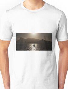 Sailing boat backlit in Rio de Janeiro Unisex T-Shirt