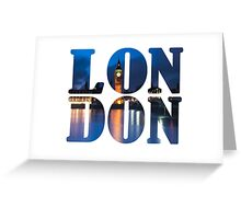 London Letters  Greeting Card
