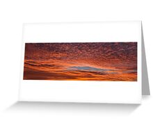 Beautiful red sunset in Senigallia Greeting Card