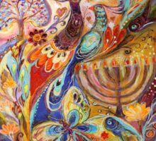 Hanukkah in Magic Garden Sticker
