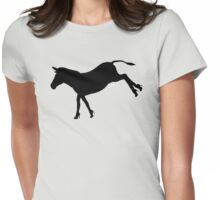 Who Says Donkeys Don't Need Shoes? Funny Art Womens Fitted T-Shirt