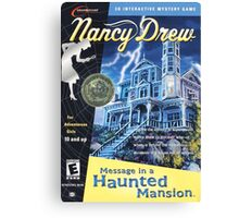 Nancy Drew - Message In a Haunted Mansion (POSTER) Canvas Print