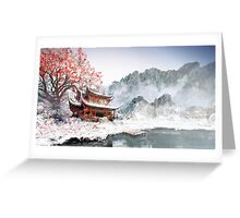 Japan Temple Greeting Card
