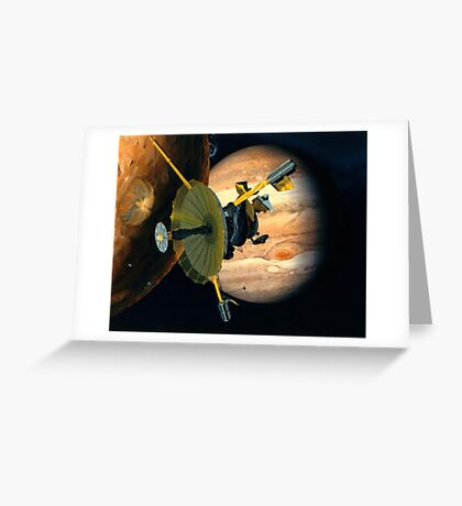 Galileo, Probe, Io, Jupiter, Space, Space Craft, Explore, Solar system Greeting Card