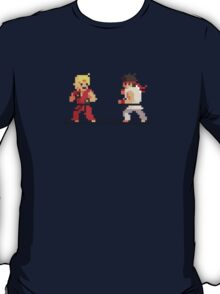 "Pixel Fighter ""Ken vs Ryu"" T-Shirt"