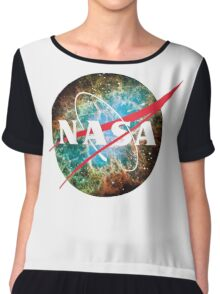 NASA Logo - Hubble, Crab Nebula Chiffon Top