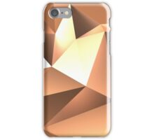 Copper Low Poly Background 3D Rendering iPhone Case/Skin