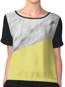 Marble and yellow Chiffon Top
