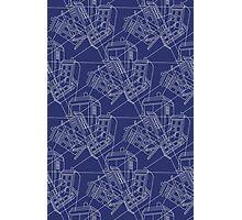 Tardis Blueprint Abstract Photographic Print