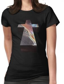 JUSTICE WOMAN CROSS ALBUM COVER  Womens Fitted T-Shirt