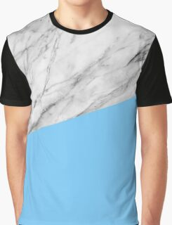 Marble and blue Graphic T-Shirt