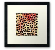 Half Moons Orange Sky Framed Print