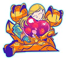 Heart-Shaped Metroid by Kat Smith