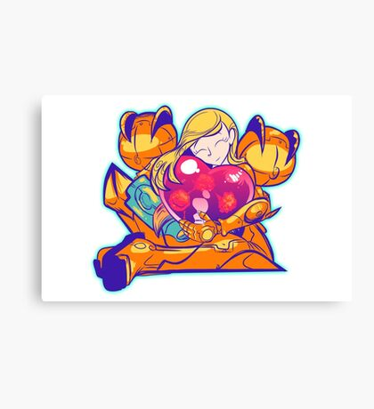 Heart-Shaped Metroid Canvas Print