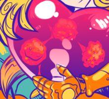 Heart-Shaped Metroid Sticker