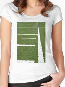 Football Lines Women's Fitted Scoop T-Shirt