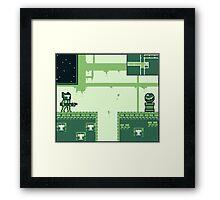 GAMEBOY SPACE HERO Framed Print
