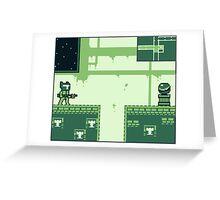 GAMEBOY SPACE HERO Greeting Card