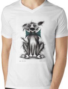 Ben the dog Mens V-Neck T-Shirt