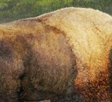 brief altercation - bison and prairie dog Sticker