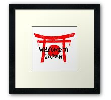 Welcome To Japan Red & Black Framed Print