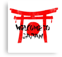 Welcome To Japan Red & Black Canvas Print