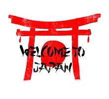 Welcome To Japan Red & Black Photographic Print