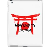 Welcome To Japan Red & Black iPad Case/Skin