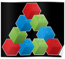 RGB Penrose Lego Poster