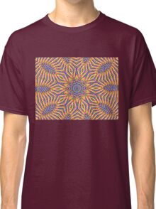 Kaleidoscope Colourful Stripes With Pink Background Classic T-Shirt