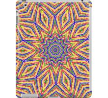 Kaleidoscope Colourful Stripes With Pink Background iPad Case/Skin