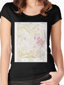 USGS TOPO Map Arkansas AR Springdale 259666 1970 24000 Women's Fitted Scoop T-Shirt