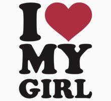 I love heart my girl by Designzz