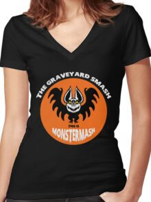 This is Monster Mash- Bat Edition Women's Fitted V-Neck T-Shirt