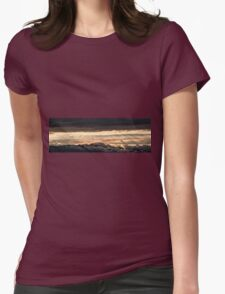 Majestic sunset from Monte Nerone, Italy Womens Fitted T-Shirt