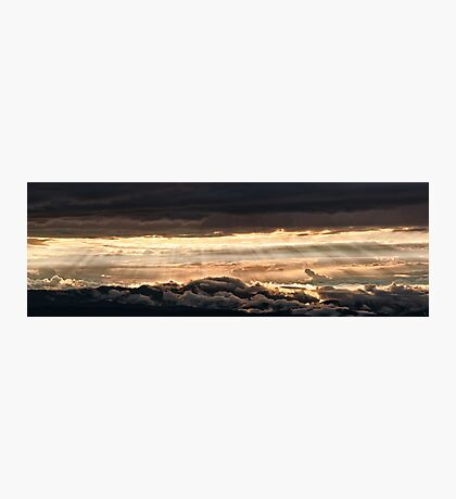 Majestic sunset from Monte Nerone, Italy Photographic Print