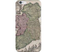 Vintage Map of Ireland (1716)  iPhone Case/Skin