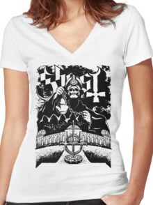Ghost - Papa Emeritus & Ghouls Women's Fitted V-Neck T-Shirt