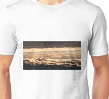 Wonderful golden sunset from Monte Nerone, Italy Unisex T-Shirt
