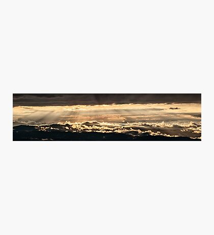 Wonderful golden sunset from Monte Nerone, Italy Photographic Print
