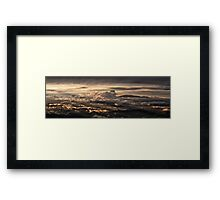 Majestic sunset taken from Monte Nerone, Italy Framed Print