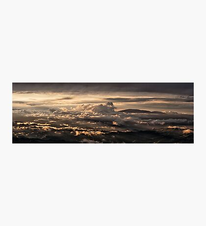 Majestic sunset taken from Monte Nerone, Italy Photographic Print