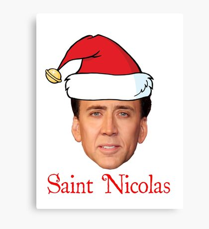 Saint Nicolas Cage Christmas  Canvas Print