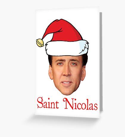 Saint Nicolas Cage Christmas  Greeting Card